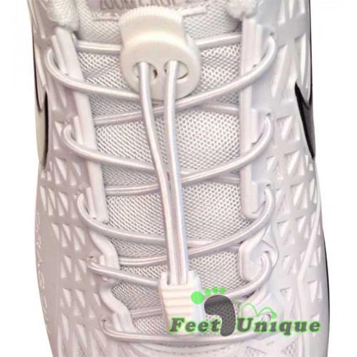 Lacci elastici bianchi con blocco