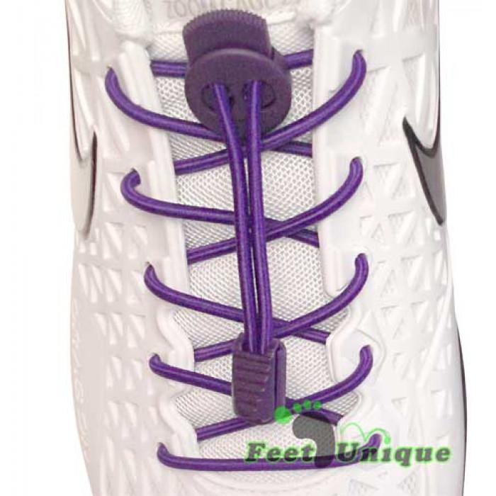 Lacci elastici porpora con blocco