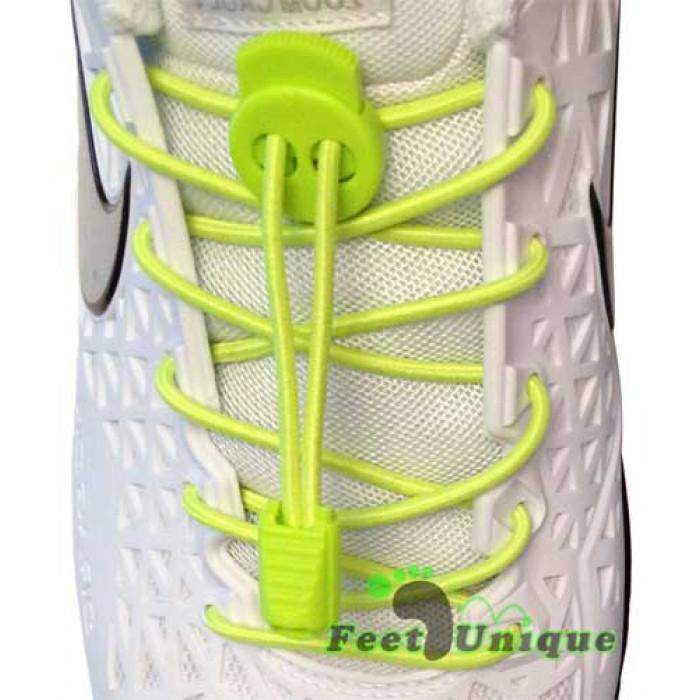 Lacci elastici giallo fluo con blocco