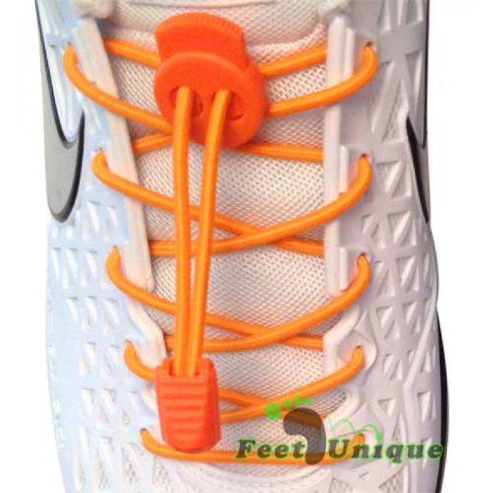 Lacci elastici arancione fluo con blocco