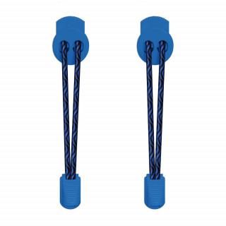 Lacci elastici nero e blu con blocco