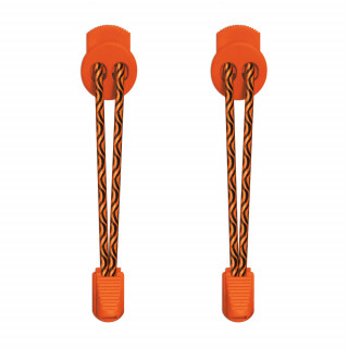 Lacci elastici nero e arancione con blocco