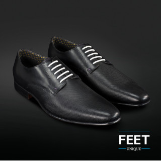 "lacci ""No-Tie"" bianchi per scarpe eleganti"
