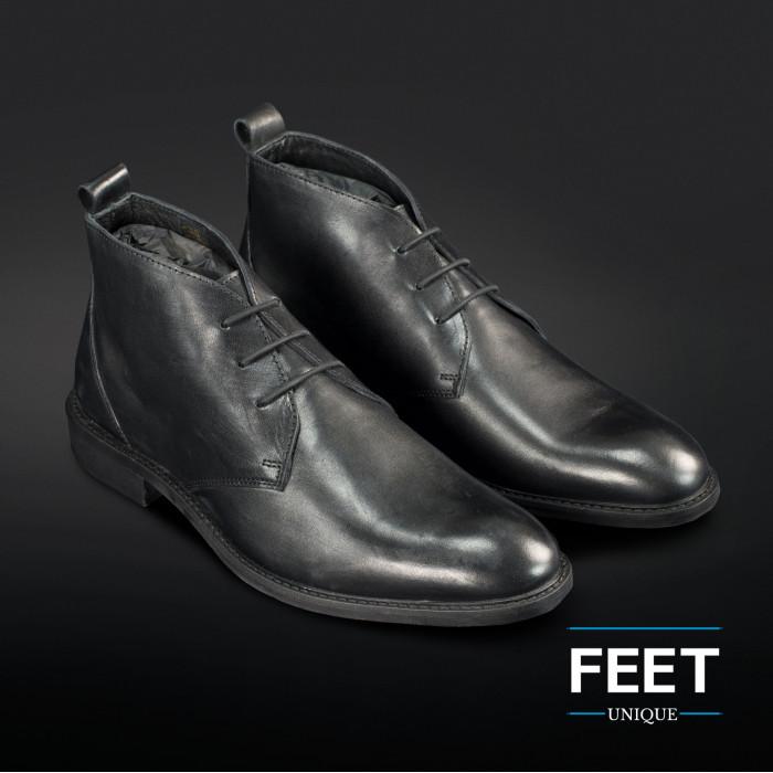 """lacci """"No-Tie"""" neri per scarpe eleganti"""