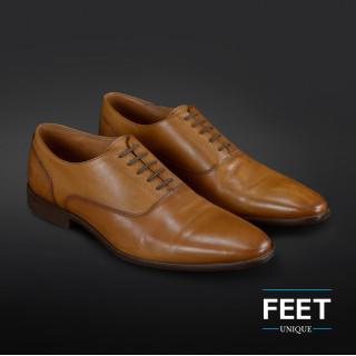 """lacci """"No-Tie"""" marrone scuro per scarpe eleganti"""