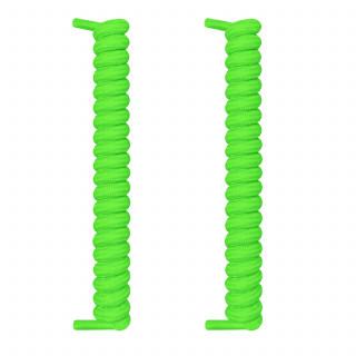 Lacci a spirale verde fluo