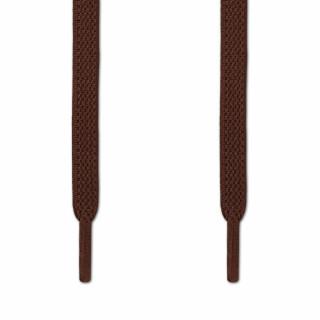 Lacci elastici piatti marrone scuro (No Tie)