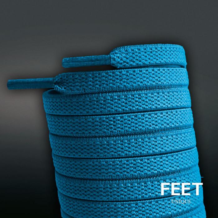 Lacci elastici turchese-blu (no tie)