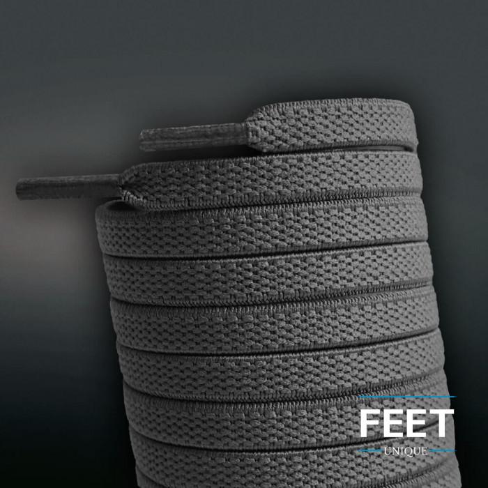 Lacci elastici piatti grigio scuro (no tie)