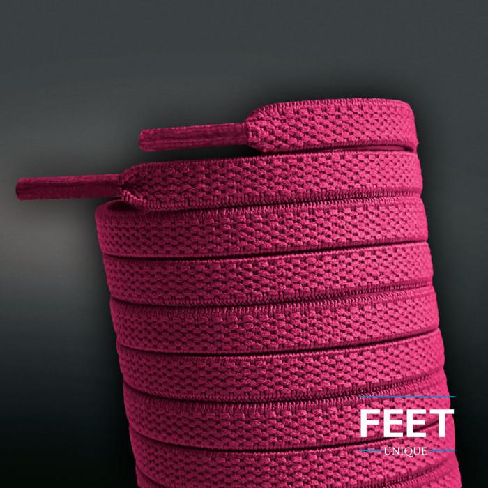 Lacci elastici piatti rosa shocking (no tie)