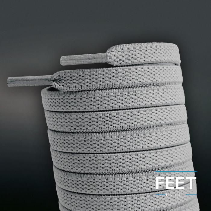 Lacci elastici piatti grigio chiaro (No Tie)