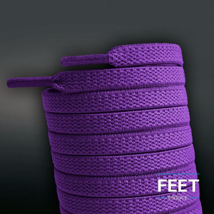 Lacci elastici piatti porpora (no tie)