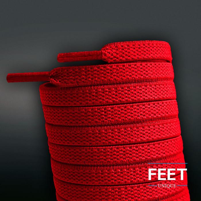 Lacci elastici piatti rossi (no tie)