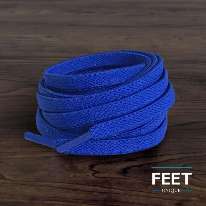 Lacci elastici piatti blu (no tie)