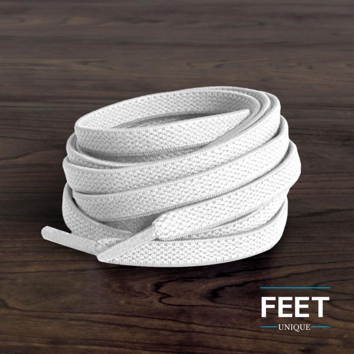 Lacci elastici piatti bianchi (no tie)