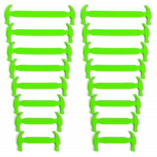Lacci elastici in silicone verde fluo