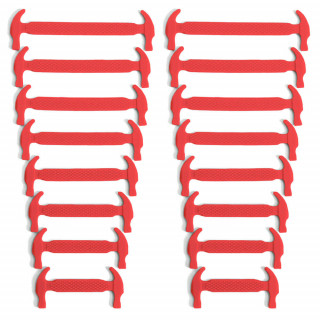 Lacci elastici in silicone rossi