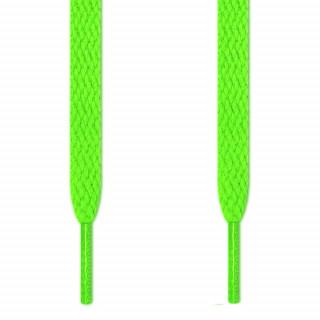Lacci piatti verde fluo