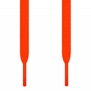 Lacci piatti arancione fluo