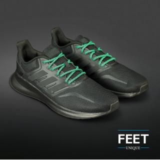 Adidas Yeezy - Lacci in Corda Nero e Verde