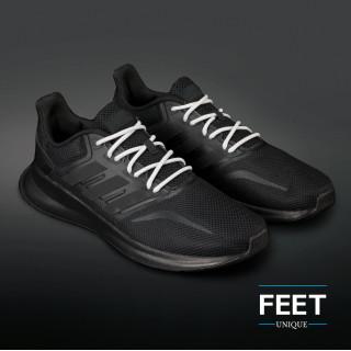 Adidas Yeezy - Lacci in Corda Grigio Chiaro e Bianco