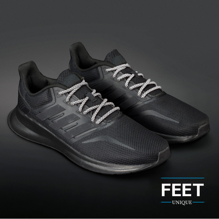 Adidas Yeezy - Lacci in corda Bianco e Nero